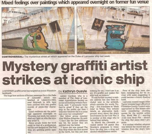 Vietējā Ziemeļvelsas laikraksta materiāls par mistisko latviešu mākslinieku