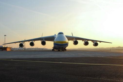 Antonov An-225 Mriya Rīgas lidostā
