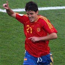 Davis Villa vēl nezina, ka viņa gūtie vārti būs pēdējie Spānijai šajā čempionātā.