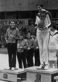 Uļa, Latvijas PSR komandas kapteine ar uzvarētāju kausu PSRS Tautu Spartakiādē. Viļņā 1979.g