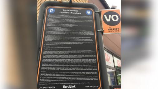 Stāvvietas lietošanas noteikumi