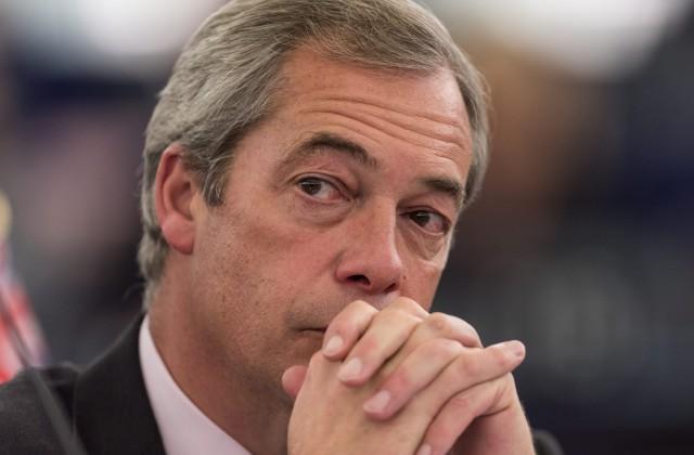 Britu eiroskeptiķu Apvienotās Karalistes Neatkarības partijas (UKIP) bijušais līderis Naidžels Farāžs