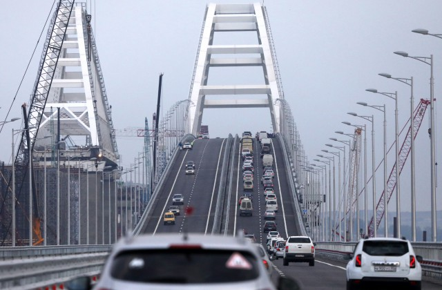 Tilts no Krievijas pamatteritorijas uz tās okupēto Krimas pussalu