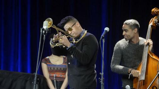Mūzikas namā «Daile» trompetists Kristians Skots (Christian Scott)