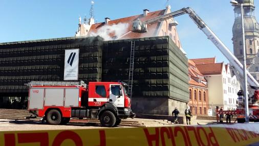 Загорелась крыша Музея оккупации
