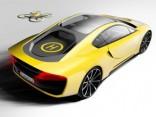 Rinspeed prezentēs autonomu sporta auto ar komplektā iekļautu dronu
