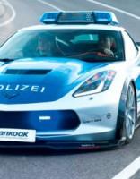 Corvette kā autobāņu policijas auto