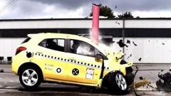 Drošības tests, kurā auto sagriež kā ar nazi