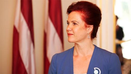 Saeimas priekšsēdētāja Solvita Āboltiņa