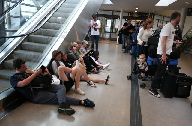 Pasažieri Arlandas lidostā Stokholmā