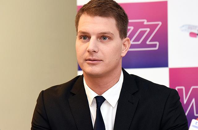 """Lidsabiedrības """"Wizz Air"""" korporatīvās komunikācijas vadītājs Gābors Vāsārheji"""