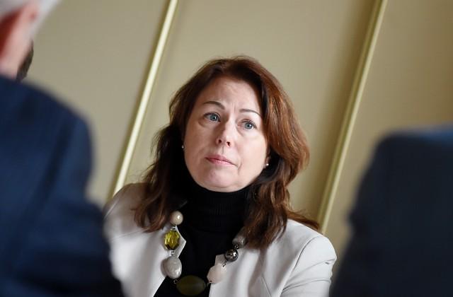 Latvijas Cūku audzētāju asociācijas vadītāja Dzintra Lejniece piedalās informācijas aģentūras LETA biznesa portāla Nozare.lv rīkotajā diskusijā par cūkkopības nozares attīstību