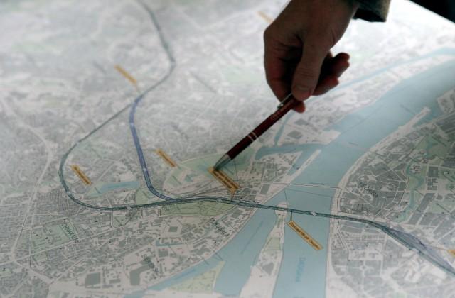"""Rail Baltica"" trase Rīgas kartē"