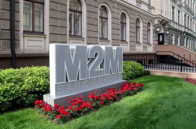 """""""Bank M2M Europe"""" zīmols"""