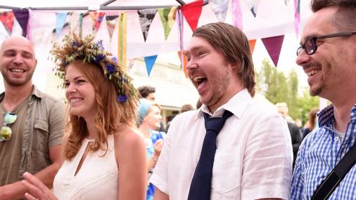 Kaut kas nebijis! Festivālā «Laba daba» apprecējušies četri pāri!