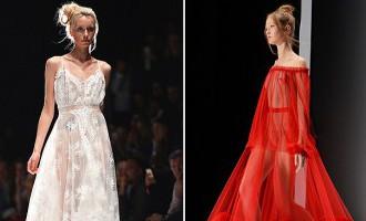 «Mercedes-Benz Fashion Week» Krievijā: kailums, volāni un koši sarkanais!