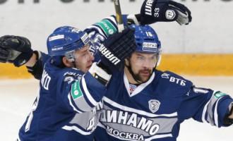 Daugaviņš palīdz Maskavas «Dinamo» gūt uzvaras vārtus pret KHL līderi SKA
