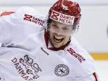 Latvijas hokeja izlases pretiniece Dānija pārbaudes mačā apspēlē Šveici