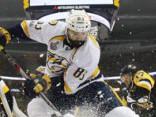 «Penguins» ar 12 metieniem pietiek, lai uzvarētu pirmajā finālspēlē