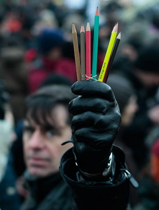 Iedzīvotāju atbalsts«Charlie Hebdo»