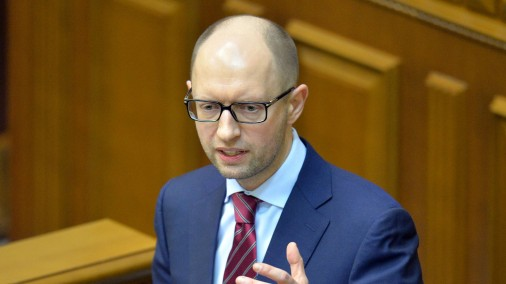 Ukrainas premjerministrs Arsēnijs Jaceņuks