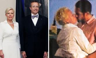 Skandāls Igaunijā: prezidenta Ilvesa sieva nofotografēta skūpstāmies ar nepazīstamu vīrieti