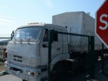 Pirmās «humānās palīdzības» konvoja automašīnas atgriezušās Krievijā