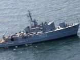 Iepretim Pāvilostai pamanīts Krievijas militārais kuģis