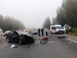 Četru automašīnu sadursmē gājis bojā viens no šoferiem