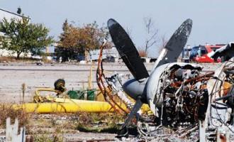 Tā tagad izskatās sabombardētā Doņeckas lidosta