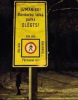 Rīgas centrā slēgti vairāki parki