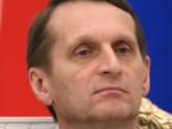 Nariškins sola, ka Krievija Latvijai neuzbruks (sic!)