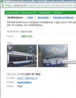 Sludinājumu portālā tirgo RS tramvajus un trolejbusus