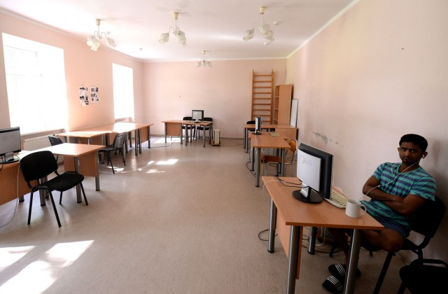 Datorzāle patvēruma meklētāju izmitināšanas centrā «Mucenieki»