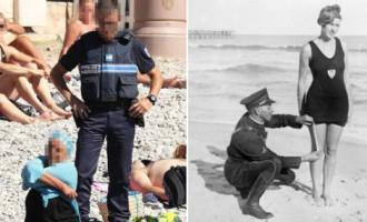 Divas bildes, kas tūkstošiem likušas aizdomāties par burkini aizliegumu