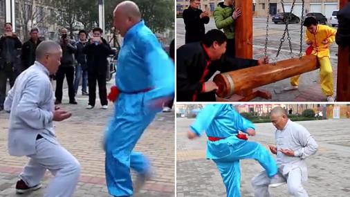 Savādā Ķīna: slavu iemantojis kungfu meistars ar «dzelzs mantību»