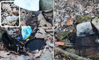 Atkritumos zālājā Pārdaugavā arī grila piederumi un krūšturis