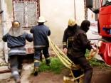 Nodzēsts ugunsgrēks angārā Ķengaraga apkaimē