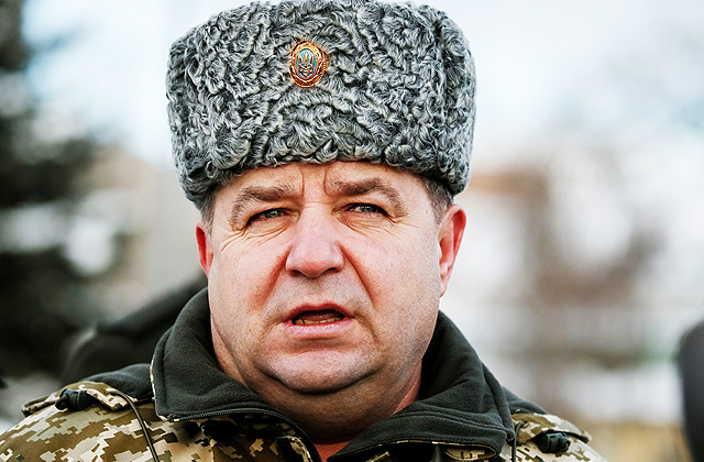 Ukrainas aizsardzības ministrs Stepans Poltoraks