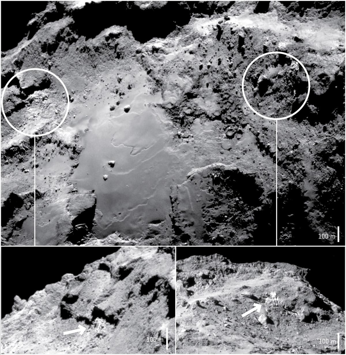 Ledus uz komētas