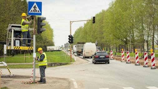 Демонтирован самый старый светофор в Латвии