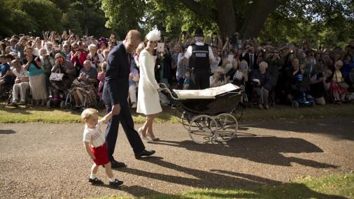 Королевская семья крестила принцессу Шарлотту