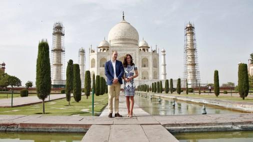 Принц Уильям и Кейт Миддлтон посетили Тадж-Махал