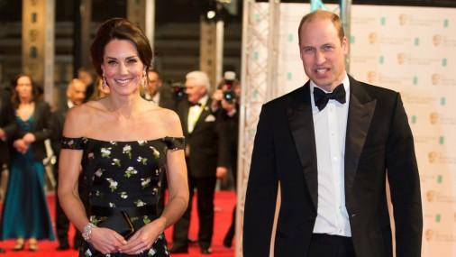 Принц Уильям и Кейт Миддлтон на церемонии вручения кинопремий