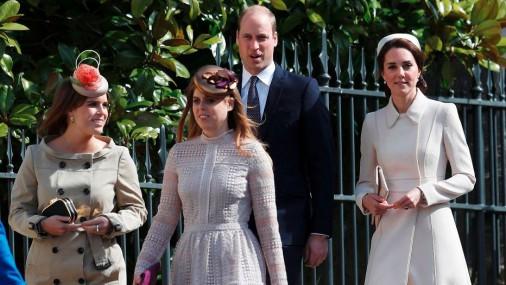 Королевская семья посетила Пасхальное богослужение