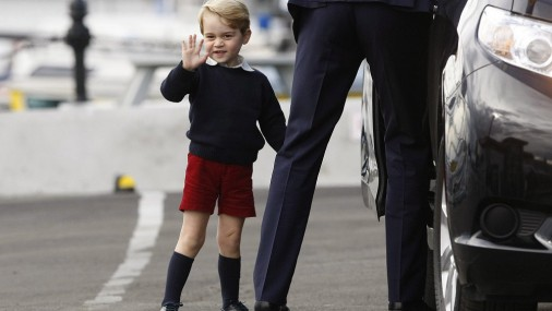 Принц Джордж в шортиках