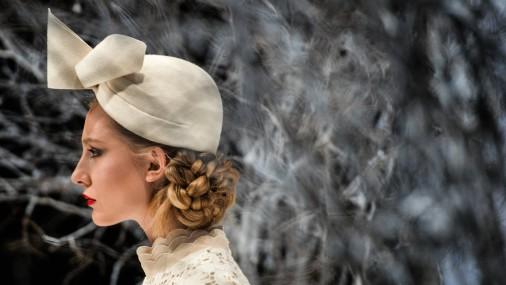 Модные шляпки на Российской неделе моды