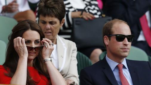 Королевская пара на Уимблдонском теннисном турнире