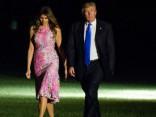 Мелания Трамп в девичьем розовом платье