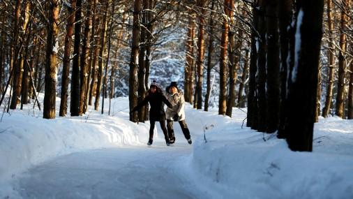 Skaisti: Kanādā meža vidū izveidota slidošanas trase